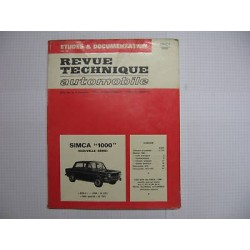 revue technique SIMCA 1000