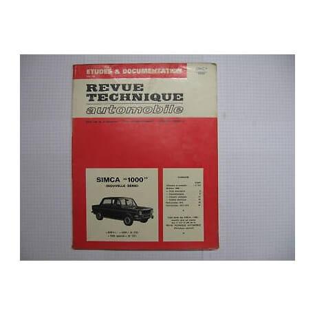 Revue technique pour SIMCA 1000 Vintage Garage
