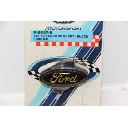 Bouchon de filtre à air pour Ford noir et chrome (air cleaner wingnut-black )