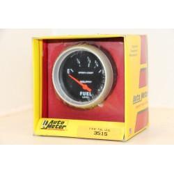 Manomètre niveau d'essence Auto meter 3515