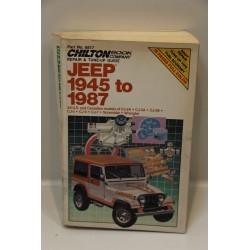 Revue technique pour Jeep de 1945 à 1987 Scrambler Wrangler en anglais