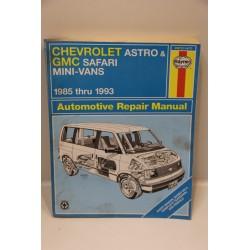 Revue technique pour Chevrolet Astro et pour GMC Safari mini-Vans de 1985 à 1993