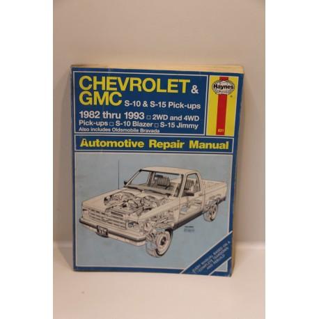 revue technique chevrolet et gmc s10 s15 pick ups de 1982 1993 en anglais vintage garage. Black Bedroom Furniture Sets. Home Design Ideas
