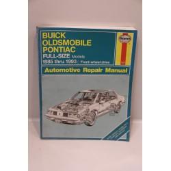 Revue technique pour Buick pour Oldsmobile pour Pontiac de 1985 à 1993 traction en anglais