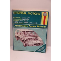 Revue technique pour GM pour Chevrolet Lumina Olds Silhouette de 1990 à 1994 en anglais