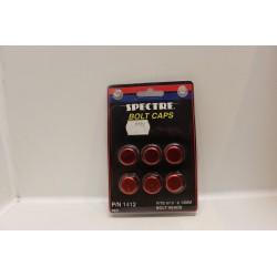 Cache vis rouge pour tête de boulon 9/16'' et 14mm Vintage
