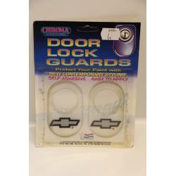 Protège serrure à coller Chevrolet gris fond transparent