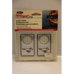 Protège serrure à coller pour Ford Mustang gris Vintage Garage