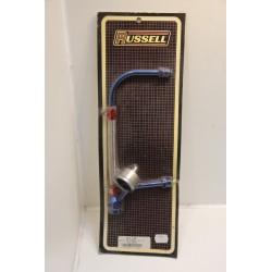 Raccord d'essence avec manomètre de pression pour systeme Holley