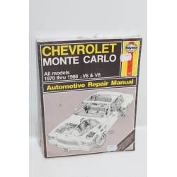 Manuel de réparation pour Chevrolet Monte Carlo 1970 à 1988 V6 et V8 (en anglais)