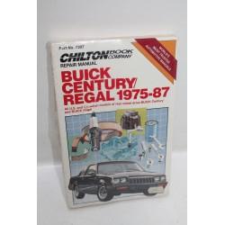 Manuel de réparation pour Buick Century Regal de 1975 à 1987 en anglais