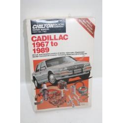 Manuel de réparation pour Cadillac de 1967 à 1989 en anglais