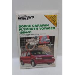 Manuel de réparation Dodge Caravan Plymouth Voyager de 1984 à 1991 en anglais