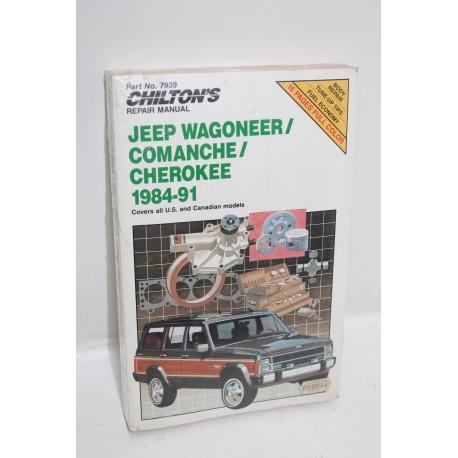 manuel de r paration jeep wagoneer comanche cherokee de 1984 1991 en anglais vintage garage. Black Bedroom Furniture Sets. Home Design Ideas