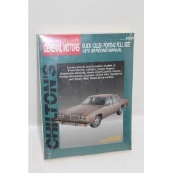 Manuel de réparation pour Buick pour Oldsmobile pour Pontiac de 1975 à 1990 en anglais