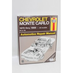 Manuel de réparation pour Chevrolet Monte Carlo de 1970 à 1988 en anglais