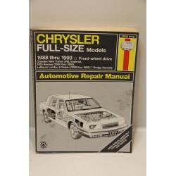 Manuel de réparation pour Chrysler de 1988 à 1993 (traction