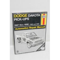 Manuel de réparation Dodge Dakota Pick-ups de 1987 à 1996 en anglais