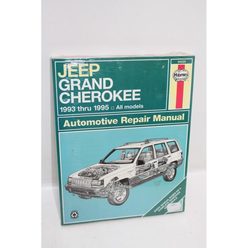 manuel de r paration jeep grand cherokee de 1993 1995 en anglais vintage garage. Black Bedroom Furniture Sets. Home Design Ideas