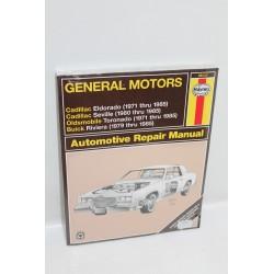 Manuel de réparation pour GM pour Cadillac pour Oldsmobile pour Buick 1979 à 1985 en anglais