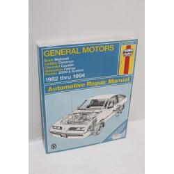 Manuel de réparation pour GM pour Buick  pour Cadillac  pour Chevrolet 1982 à 1994 en anglais