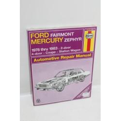 Manuel de réparation pour Ford Fairmont pour Mercury Zephyr de