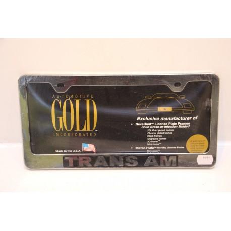 Support de plaque d immatriculation plastique trans am for Garage plaque d immatriculation