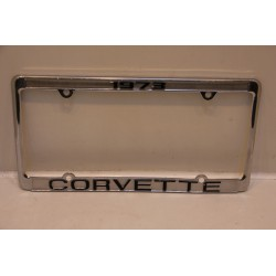Support de plaque d'immatriculation métallique Corvette 1973