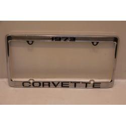 Support de plaque d'immatriculation métallique Corvette 1973