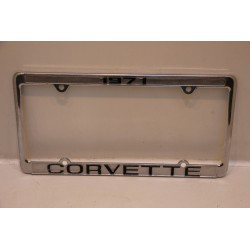Support de plaque d'immatriculation métallique Corvette 1971