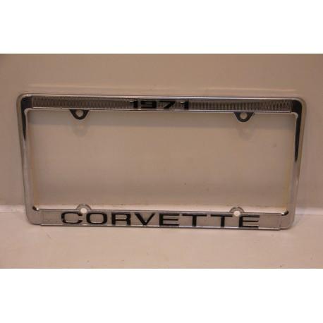 Support de plaque d immatriculation m tallique corvette 1971 vintage garage - Garage plaque immatriculation ...