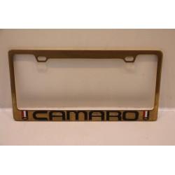 Support de plaque d'immatriculation métallique Camaro