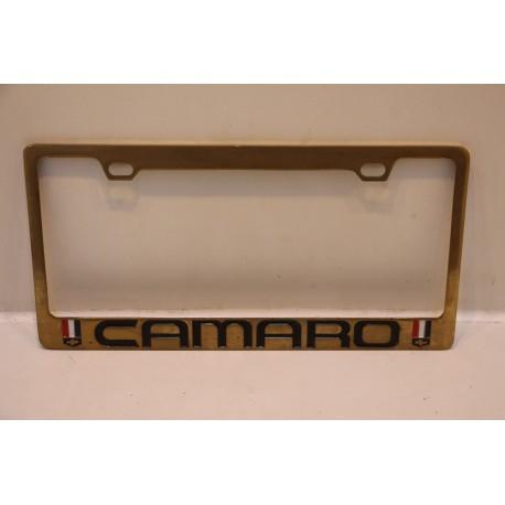 support de plaque d immatriculation m tallique camaro vintage garage. Black Bedroom Furniture Sets. Home Design Ideas