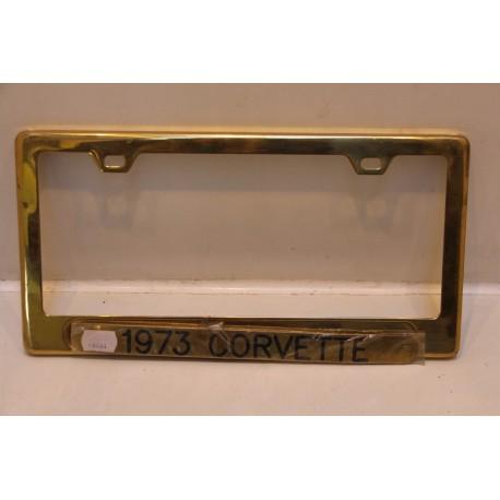 Support de plaque d immatriculation m tallique corvette 1973 vintage garage - Garage plaque immatriculation ...