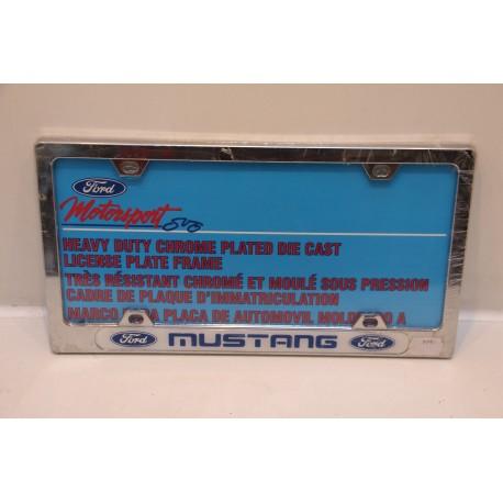 Support de plaque d immatriculation m tallique ford mustang vintage garage - Garage plaque immatriculation ...