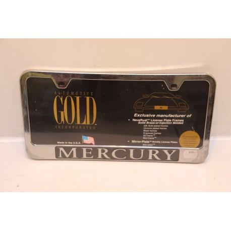 support de plaque d immatriculation plastique mercury vintage garage. Black Bedroom Furniture Sets. Home Design Ideas