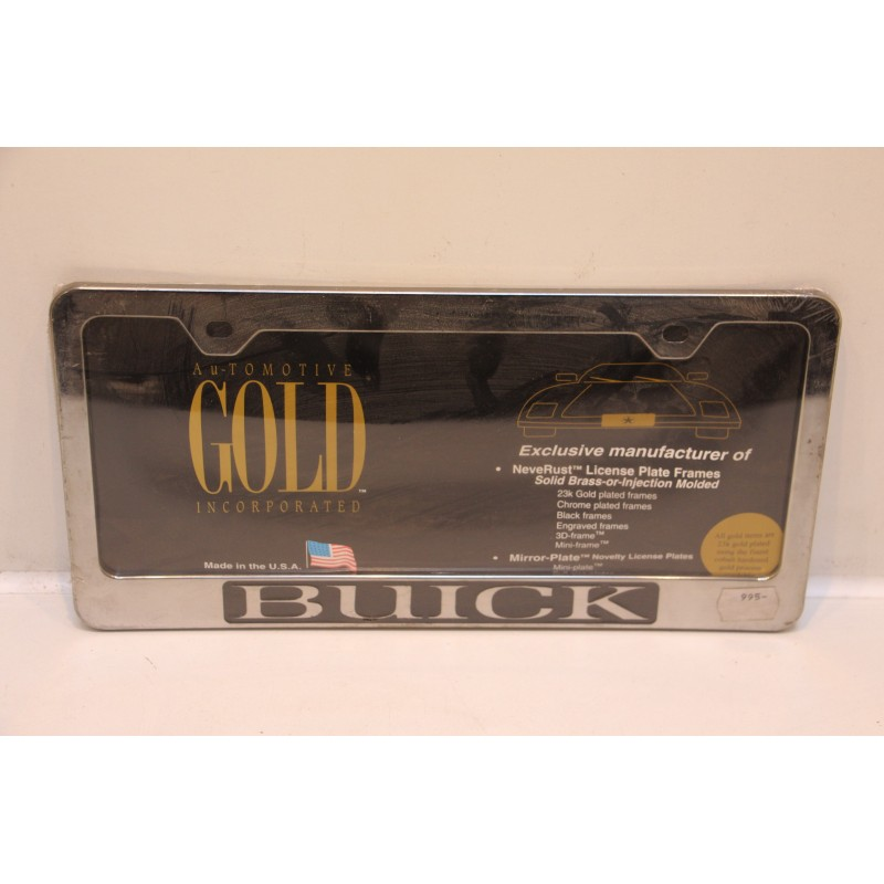 Support de plaque d immatriculation plastique buick vintage garage - Garage plaque immatriculation ...