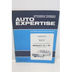 Revue auto Expertise Fiches SRA pour Renault 20 et 30 type r1271 et r1273