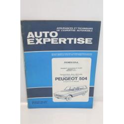Revue auto Expertise Fiches SRA pour Peugeot 504