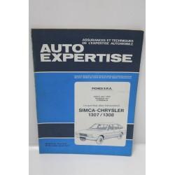 Revue auto Expertise Fiches SRA pour Simca pour Chrysler 1307 / 1308