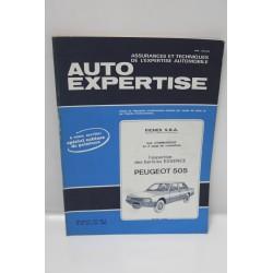 Revue auto Expertise Fiches SRA pour Peugeot 505