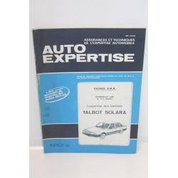 Revue auto Expertise Fiches SRA pour Talbot Solara