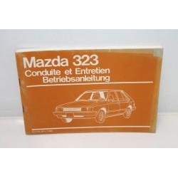 Manuel de conduite et d'entretien pour Mazda 323 Vintage