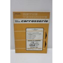 Service Carrosserie pour Mercedes-Benz Gamme 200/8 à 250/8 avril mai juin 1972