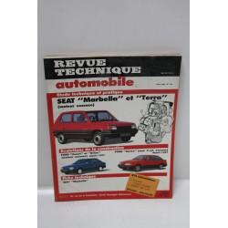 Revue Technique Automobile pour Seat Marbella et Terra essence de juin 1990