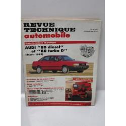 Revue technique automobile Audi 80 diesel et turbo diesel décembre 1990