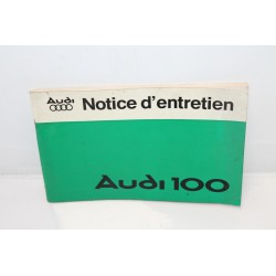 Notice d'entretien pour Audi 100 Vintage Garage