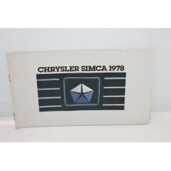 Présentation de la gamme pour Chrysler pour Simca année 1978