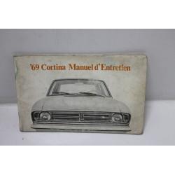 Manuel d'entretien pour Ford Cortina 1969 Vintage Garage