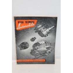 Revue technique automobile électricité et carburation Vintage